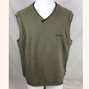 Large Brown Golf Sleeveless Vest Shirt Sweater